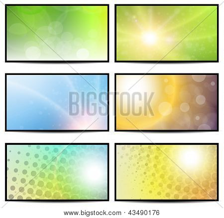 Natural sunny backgrounds collection.