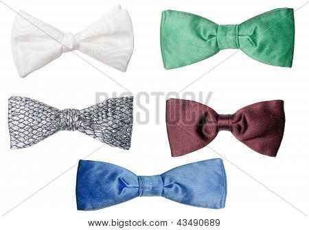 Retro Bow Ties Isolated On White