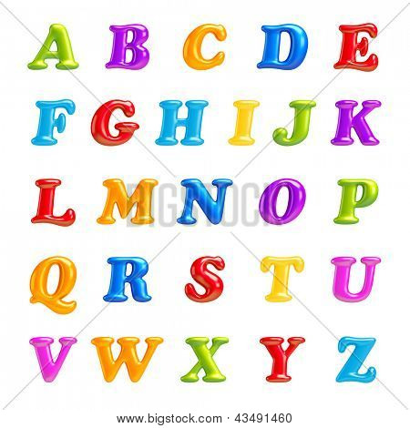 3D Font creative.ABC collection.Isolated. Alphabet type letters with numbers and symbols. High Quality clean sharp letters. a, b, c, d, e, f, g, h, i, j, k, l, m, n, o, p, q, r, s, t, u, v, w, x, v, z