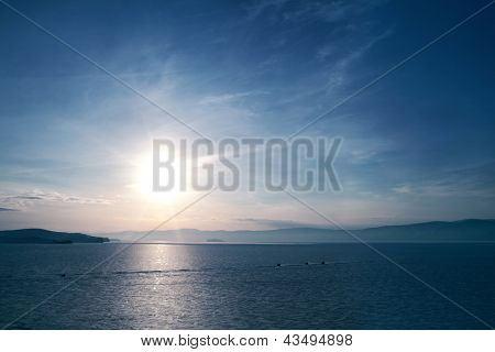 Lago de Baikal no inverno