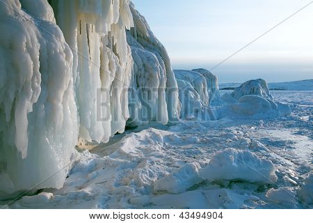 lake of Baikal in winter