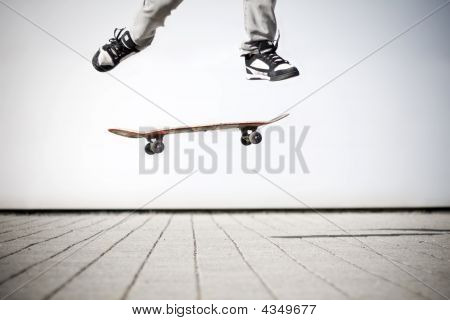 Skater Making An Olli