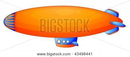 Illustration of an orange blimp on a white background