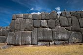 Wall At Sacsayhuaman In Cusco Peru