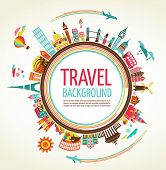 image of old suitcase  - Travel and tourism background - JPG