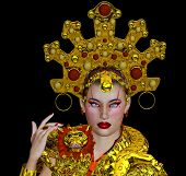 picture of woman dragon  - This is the all consuming seductress of Shanghai who used her charms and wealth to create a legacy of mythological propositions - JPG