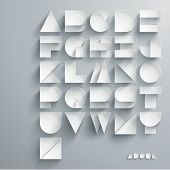 picture of alphabet  - Vector Paper Graphic Alphabet Set - JPG