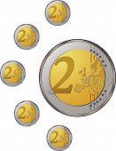 Постер, плакат: Монеты евро
