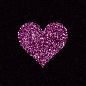 stock photo of glitz  - Sparkling heart - JPG