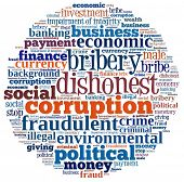 stock photo of corruption  - Corruption in word collage - JPG