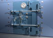 picture of bank vault  - Illustration of a very secure bank vault - JPG