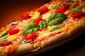 stock photo of sausage  - Pizza - JPG