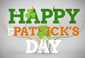 stock photo of st patty  - Artistic st patricks day message on grey background - JPG