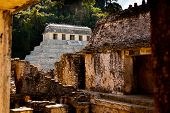 image of yucatan  - Temple of Palenque an ancient mayan ruin located in Palenque Yucatan Mexico - JPG
