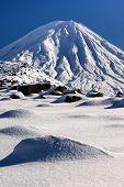 Постер, плакат: Гора Нгаурухое Национальный парк Тонгариро Новая Зеландия