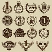 stock photo of pop star  - Vintage Collection of Beer Seals  - JPG