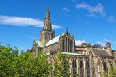 stock photo of dom  - Glasgow cathedral aka High Kirk of Glasgow or St Kentigern or St Mungo - JPG