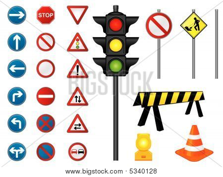 Vector, Road Signs Collection