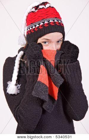 Girl In Stocking Cap