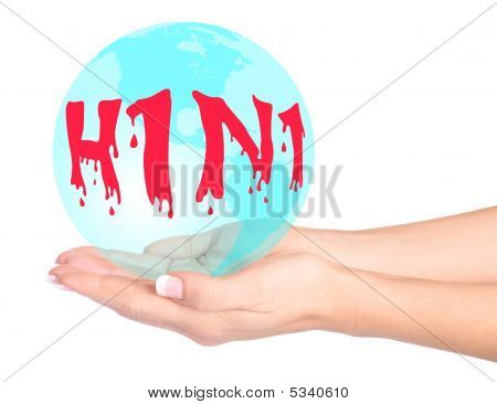 Swine Flu Virus In Hands