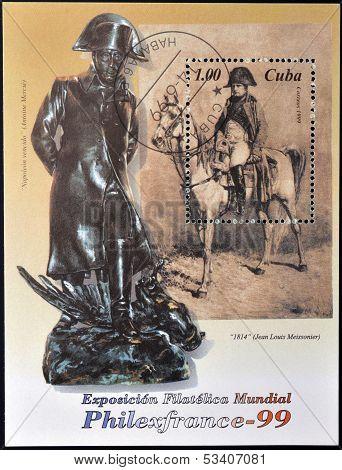 CUBA - CIRCA 1999: A stamp printed in cuba shows Napoleon Bonaparte circa 1999