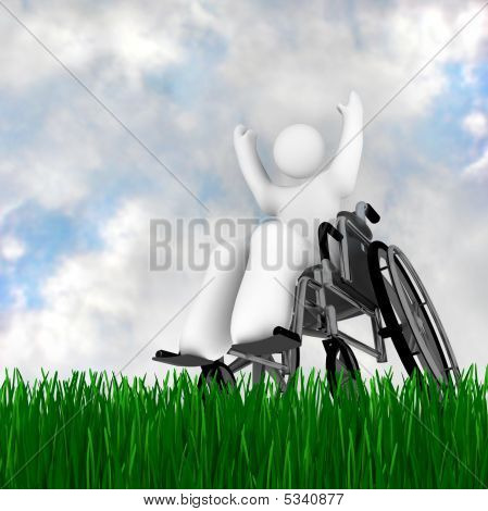 Wheelchair Person Enjoying Outdoors