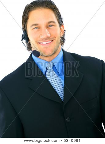Smiling Portrait Of Male Customer Service