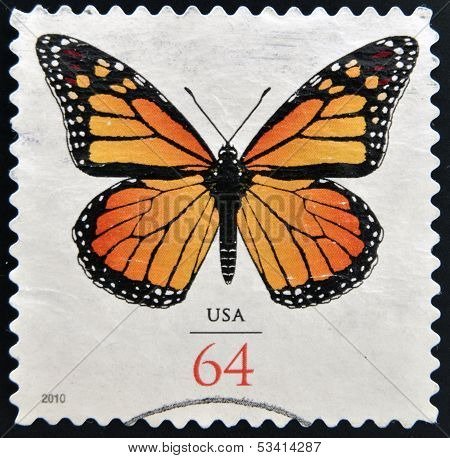UNITED STATES OF AMERICA - CIRCA 2010: stamp printed in USA shows Butterfly circa 2010