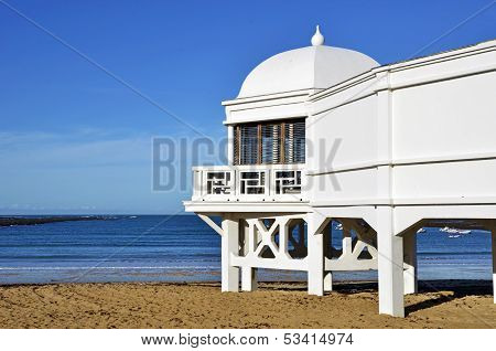 Wooden Wellness Caleta beach in Cadiz, Andalusia