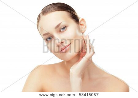Beautiful Young Woman With Healthy Clean Skin