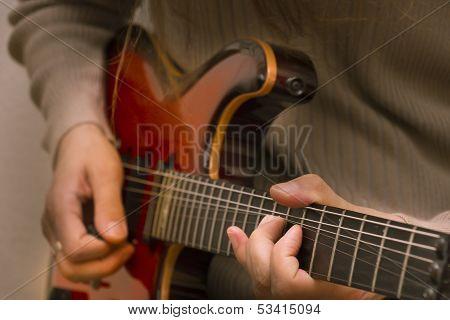 Close-up Electrical Guitar