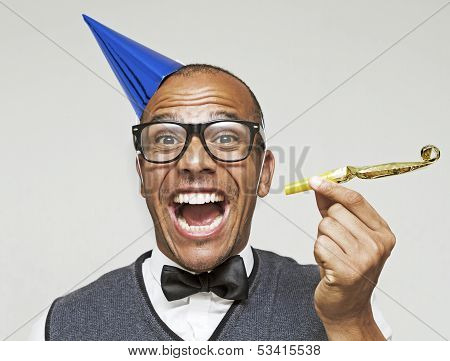 Man ready to start the party