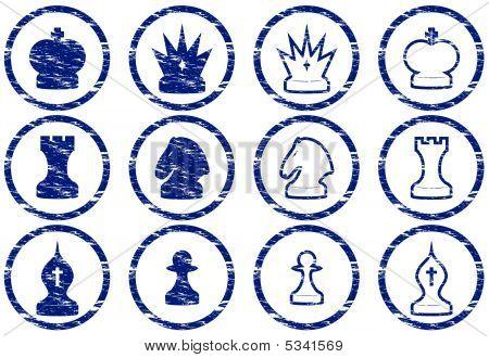 Schachspiel-Symbole.