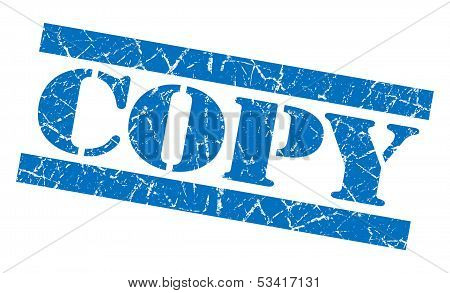 Copy Blue Grunge Stamp
