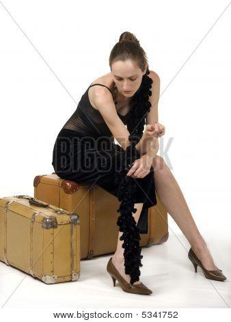 Retro Girl Travel