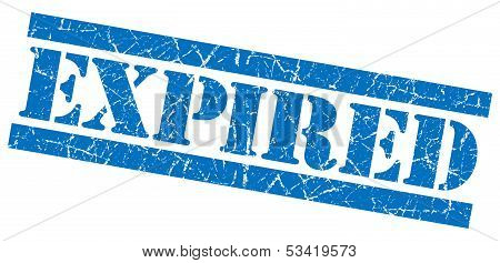 Expired Blue Grunge Stamp