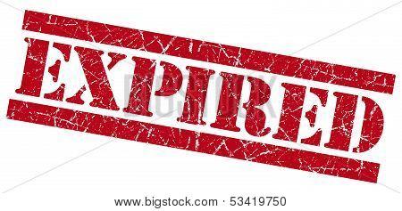 Expired Red Grunge Stamp