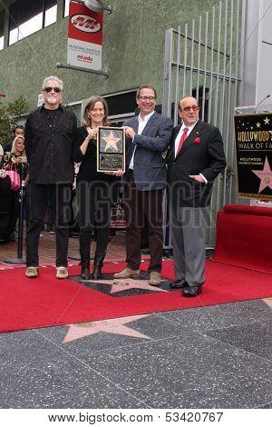 LOS ANGELES - NOV 4:  Kris Kristofferson, Laura Joplin, Michael Joplin, Clive Davis at the Janis Joplin Hollywood Walk of Fame Star Ceremony at Hollywood Blvd on November 4, 2013 in Los Angeles, CA
