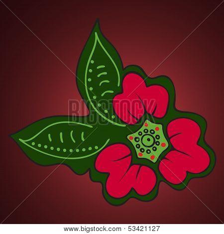 Decorativ red flower.