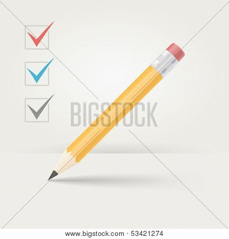 Office wooden pencil