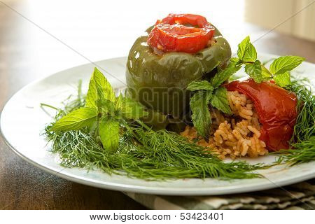 Stuffed Bellpepper And Tomatoes Dolmas