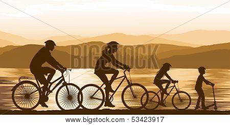 Cycling On Seaside