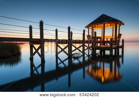 North Carolina Coastal Gazebo Reflection