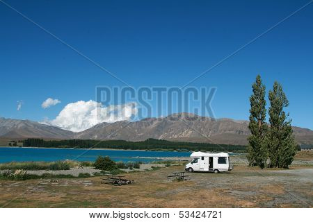 Motorhome At Lake 2