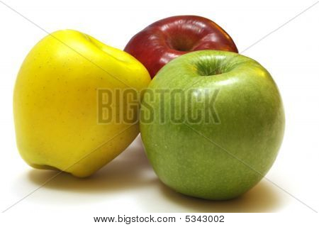Three Different Types of Apples