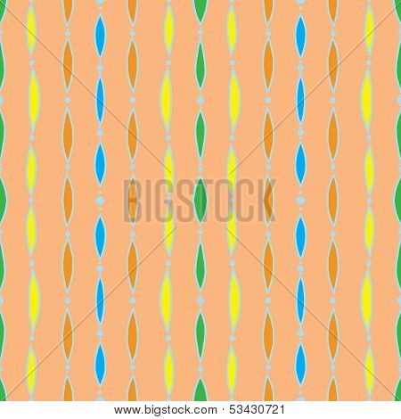 vintage seamless pattern, 60s 70s textile