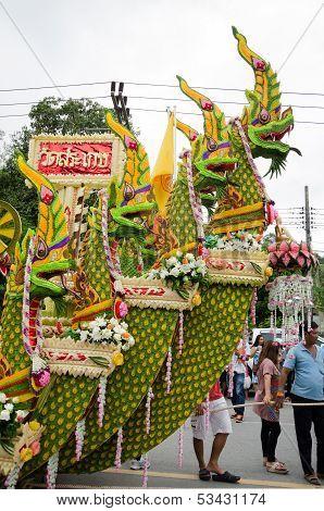 Songkhla, Thailand- October 20: Lak Phra And Tak Bat Devo Are Buddhist Festival Held Annually .the F