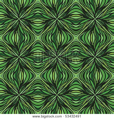 had drawn linear green vector pattern