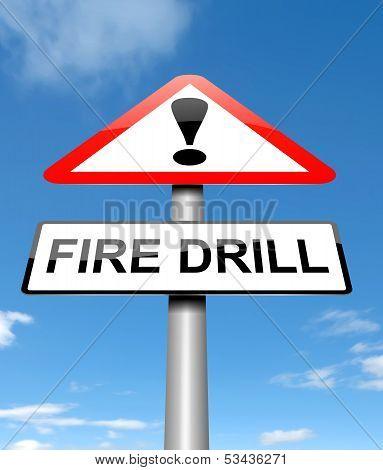 Fire Drill Concept.