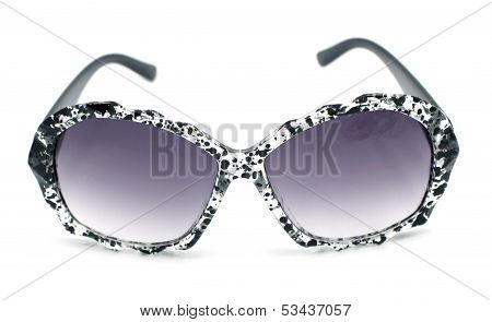 Black And Clear Splash Paint Splatter Pattern Sunglasses